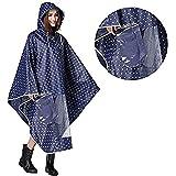 Hombre Mujer Capa de lluvia impermeable Poncho impermeable con capucha Epais ropa abrigo impermeable Raincoat EVA ambiental c