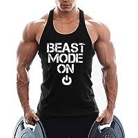 TX Apparel Men's Gym Vest Cotton Fitness Beast Model Stringer Tank Tops