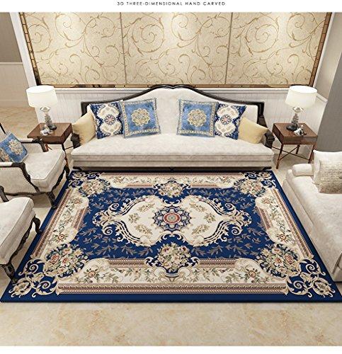 DT Floral Europäischen Stil Teppich Anti Slip verschleißfeste Moderne Für Wohnzimmer Schlafzimmer Kreative Teppich Jute Bottom Dekorative Teppiche (Größe: 160 * 230 cm) (Floral Jute)