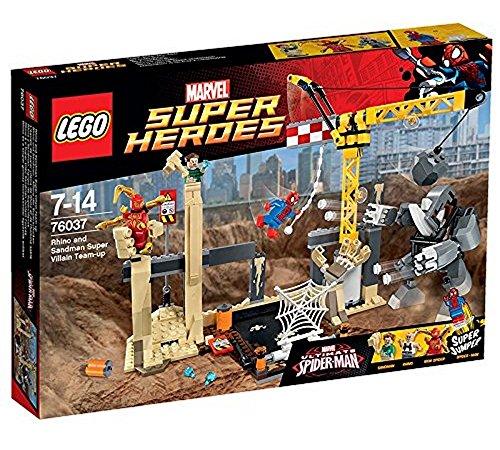 LEGO - 76037 - Marvel Super Heroes - Jeu de Construction - Equipe Rhino et Homme Sable