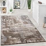 Paco Home Edler Designer Teppich Hochtief-Effekt Steinmauer Optik Beige Grau Meliert, Grösse:200x290 cm