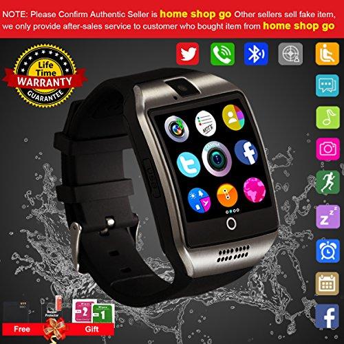 Smartwatch,Bluetooth Smart Watch Phone Touchscreen,Smartwatch Ios mit Whatsapp Bluetooth Uhr  mit Kamera Wasserdicht Smart Uhr Kompatible IOS Andriod Samsung iPhone X 8 7 6 6S 5 Plus für Herren Damen