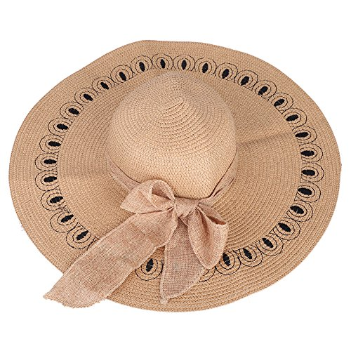 ITODA sombrero de paja sol Cap Hat Gorra Mujer Protección Solar  transpirable anti-UV plegable 07cbe4662db2