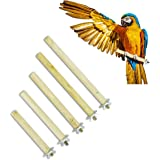Cosy tossy Set of 5 Natural Habitat Wooden Perch/Stand/Toy for Birds Budgie/Cockatiel/Parrot/Hamster/Squirrel (Light Weight)