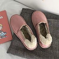 SKYROPNG Zapatos Invierno Mujer Botas De Nieve,Rosa Japonesa Estudiante Botines Botines Espesar Suave Caliente Cómodo Algodón Amortiguación Botas Mujeres Antideslizante Exterior 36