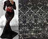 Atemberaubende Stickerei Braut Spitze Stoff 144,8cm