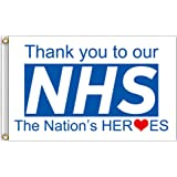 Thank You NHS Rainbow Flag UK STOCK British Union Jack 5ft X 3ft SAME DAY ✅