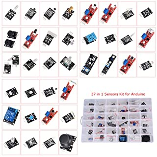 Drmuk 37 in 1 Arduino Compatible Sensor Module Kit Pack Learning Package Kit for Arduino UNO R3 Mega2560 Mega328 Nano