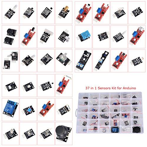 Preisvergleich Produktbild drmuk 37in 1Arduino kompatibel Sensor Module Kit Pack Learning Paket KIT Für Arduino UNO R3Mega2560Mega328Nano