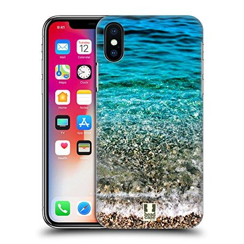 Head Case Designs Onde Trasparenti Spiagge Meravigliose Cover Retro Rigida per Apple iPhone X Onde Trasparenti