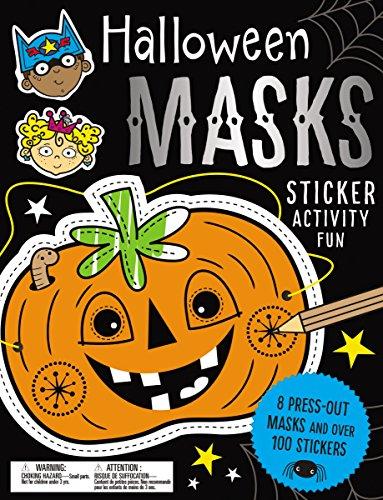 Sticker Activity Books Halloween Masks Sticker Activity - Für Kinder Make-ideen Halloween