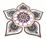 Handcrafted Decorative Rangoli set – Jewel Stone/ Kundan Decorations on OHP Base – 6 piece set - for Home Décor