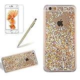 Coque pour iPhone 4/4S,Girlyard Plastique PC Rigide Dure Glitter Paillettes Liquide...