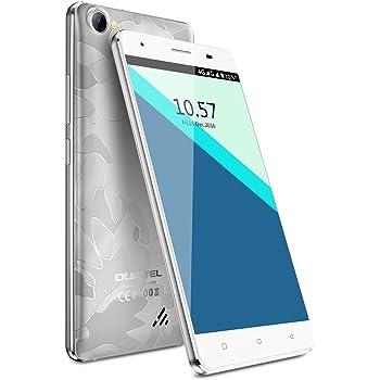 OUKITEL C5 Pro - Smartphone 4G 5.0''HD (FDD-LTE, Android6.0, 5.0MP+2.0MP doppia fotocamera, 16GB ROM+ 2GB RAM, MTK6737 quad-core 1.3GHZ), argento