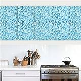 Wallpaperpvcceramic Fliese Pvc Wasserdicht Badezimmer Mosaik Multicolor Selbstklebende Tapete Wandaufkleber 20 * 20 Cm (10 Stücke)