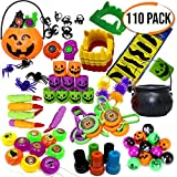 THE TWIDDLERS Set von 110 Halloween Thema Party Mitgebseln Scherzartikel - Perfekt für Partytaschenfüller - Pinatas - Geburtstag & Halloween Partys - Weihnachten Etc.