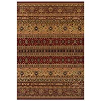 Kendra 135 R Traditional Rug Red Beige 120 x 170cm (4ft x 5ft6 approx)