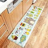 AZUO3 Blöcke Zum Verkauf Cartoon Japanischen Stil Haushalts Bekleidung Resistente Rutschfeste Fußpolster Haushalt Wasserdicht Öl Proof Streifen Leder Küche Bodenmatte,D,M