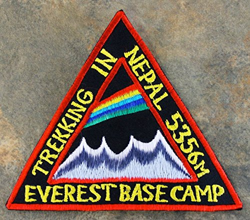 Trekking in Nepal Mount Everest Base Camp Patch 9 cm bestickt Eisen/Nähen auf Badge Klettern Aufnäher Travel Souvenir Trek Tasche Rucksack (Everest-tasche)