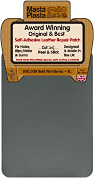 MastaPlasta - Parche Autoadhesivo para reparación de Cuero. XL: 28 x 20 cm. Elige EL Color Kit de Primeros Auxilios para sofá