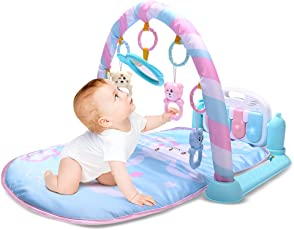 Baby Kick Play Piano Gym Tappetino da gioco attività Gym Lights & Music spessore morbida imbottita Tappetino da gioco Lay & Play Newborn Toys