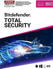 Bitdefender Total Security Multi Device 2019 - Inkl. VPN - 1 Jahr / 10 Geräte für Multi Plattform (PC, Mac, Android und iOS)