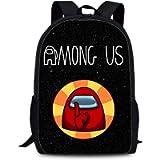 Among us Backpack Student Bookbag Shcool Bags for Kids Boys Girls Game Fans Gifts (Color 1)