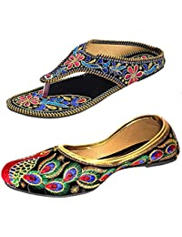 Kanchan Womans Chappal And Jutti Combo Pack