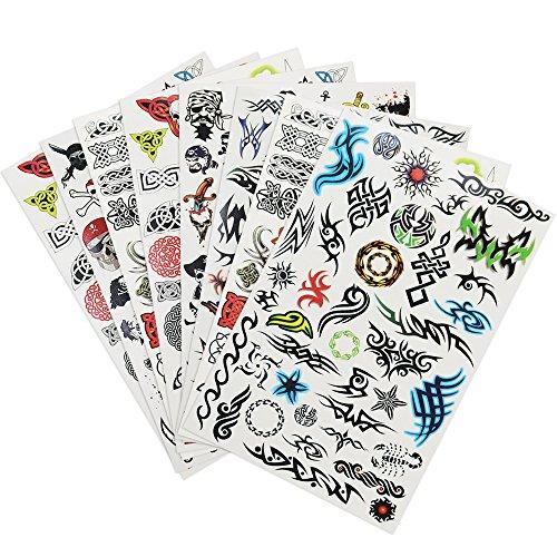 COM de Four® Tattoo de hojas con afilar calcomanías para niños y jóvenes con diferentes diseños 08 Stück - Jungs