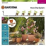 GARDENA Erweiterungsset Pflanztöpfe: Das Balkon-Bewässerungssystem erweitert Ihre Micro-Drip-Start Sets Pflanztöpfe M um 5 Pflanztöpfe (13005-20)