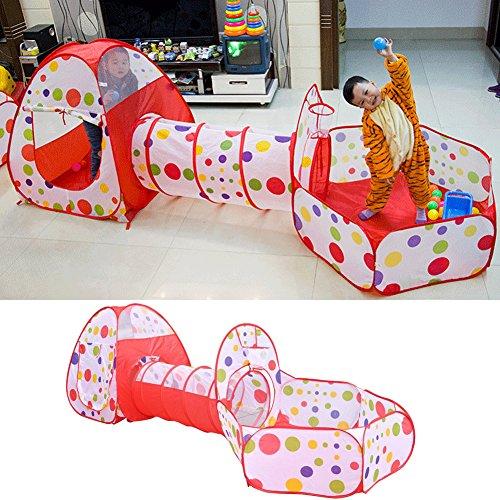 E Support™ esterna Gamehouse giocattolo Hut popolare facile Ocean Ball Pool Tunnel e tenda tenda del gioco Pop coperta in su la tenda giocattolo divertente per i bambini - Guardare La Finestra Sul Cortile