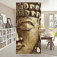 Panel japones Vintage Buddha 250x120cm | paneles japoneses separadores de ambientes cortina paneles japoneses cortina cortinas | Tamaño: 250 x 120cm incl. soporte de aluminio magnético