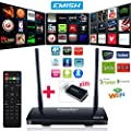 EMISH TV Box ,Android 5.1 Octa Core Smart TV Box Support 3D, 4Kx2K Resolution,Game Player with Kodi, Wifi Bluetooth Functions, Internet Streaming Media Player with Rockchip 3368 64 Bits, Black X800