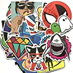 Rapidotzz 50 Pieces Super Graffiti Laptops Stickers for Laptops Mobiles Helmets Notebook Suitcases iPhone Ipads Tablets...