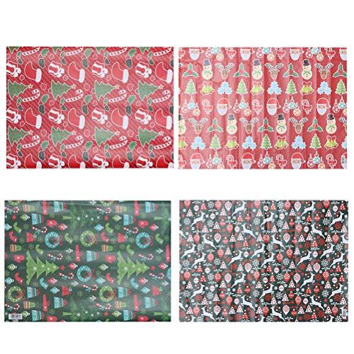 BESTOYARD 12 Stück Weihnachtspapier Geschenkpapier Weihnachtsgeschenkpapier für Weihnachten Geschenke Adventskalender Xmas Basteln