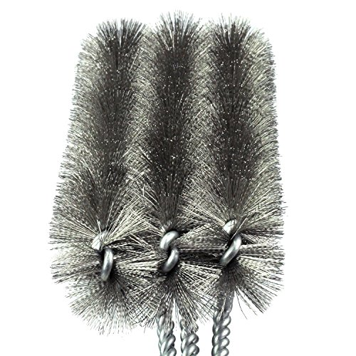 GAINWELL BBQ GRILL BRUSH - Best 3 in 1 Heavy Duty Barbeque Grill Brush - Stainless Steel Bristles Effectively Clean all Types of BBQ - 3 Brushes to Clean Maximum Area FAST! - Lifetime Guarantee!