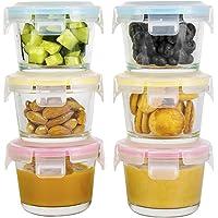 Doonmi - (4.4oz, 6-Pack Récipients de Stockage des Aliments pour bébés en Verre, Petits récipients avec Couvercle à…