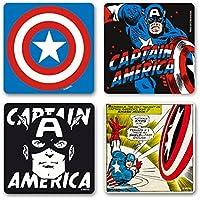 Capitán América - Marvel Comics - Captain America Juego de posavasos de nevera - Juego de 4 coaster - multicolor - Diseño original con licencia - Logoshirt