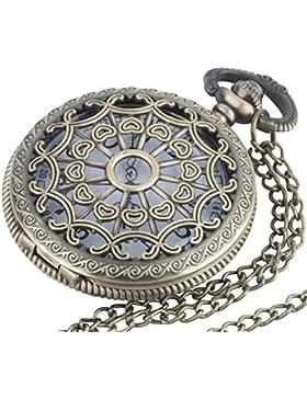 81stgeneration Jahrgang -Messing Taschenuhr-Anhänger lange Halskette