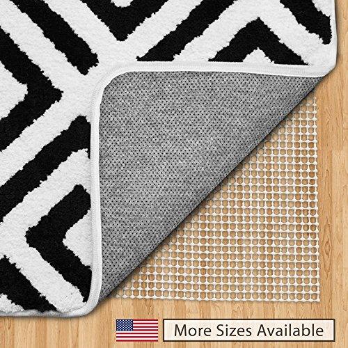 Unterlage für den Teppich, die verhindert, dass er verrutscht, in den USA hergestellt, in vielen Größen erhältlich, für Hartböden, weiß, 6x9-Feet (Oriental Bereich Teppich)