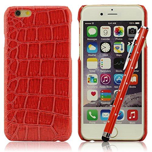 Schildkröte Schale Aussehen iPhone 6 6S Hülle Handy Tasche Schutzhülle + Hübsch Stylus Pen, Schwer Gel Material Case Skin Cover, [Stoßdämpfung] [Anti-Kratzer] [Anti-Schmutz-] (iPhone6 Plus 6S Plus 5.5 Zoll Nicht Passen ) (Schildkröte Case Iphone6)