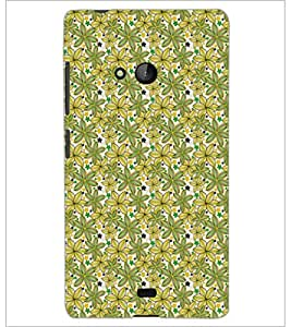 PrintDhaba Floral Pattern D-5341 Back Case Cover for MICROSOFT LUMIA 540 (Multi-Coloured)