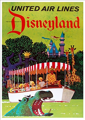 united-air-lines-disneyland-wonderful-a4-glossy-art-print-taken-from-a-rare-vintage-travel-poster