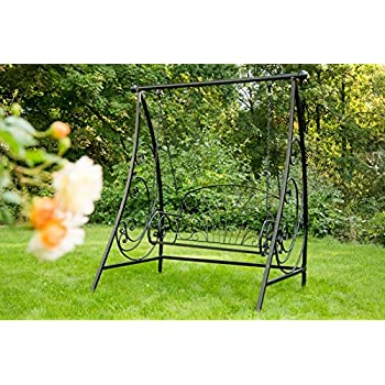 hollywoodschaukel aus metall verzinkt schwarz. Black Bedroom Furniture Sets. Home Design Ideas