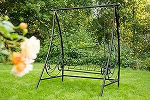 hollywoodschaukel aus metall verzinkt schwarz schaukelbank gartenbank eisen k che. Black Bedroom Furniture Sets. Home Design Ideas