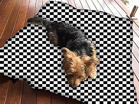 Abstraktes Schach Muster Hundebett Pet Supplies Große extra Größe XL Reißverschluss mit Innenkissen