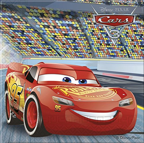 20 Servietten * CARS 3 * von Disney für Kindergeburtstag oder Motto-Party // Party Napkins Motto Lightning McQueen Autos Rennautos Rennen (Rennen-auto-teller)
