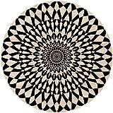 2D-Wandobjekt aus Holz | Mandala | Radial | Illusion | Optische Täuschung | Wandteller | Holzbild | Shabby-Look | Landhaus | Vintage | Holzobjekt | Deko | Holzdruck | Geschenk, Größe:ca. 30x30cm