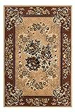 Teppich Wohnzimmer Carpet Klassisch Traditionell Design Asia 001 RUG Blumen-Ornament Muster Polypropylen 120x170 cm Beige/Teppiche günstig online kaufen