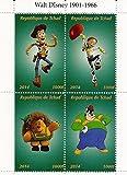 Stampbank Walt Disney Toy Story et miniature feuille de timbres classiques de Disney pour les collectionneurs / 2014 / Tchad / 1000F